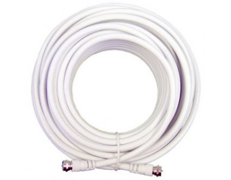 30' White RG6 Low Loss Coax Cable (950630)