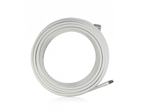 SureCall CM004-10-FF 10 ft. White Low-Loss CM240 Coax Cable with FME-Female and FME-Male Connectors