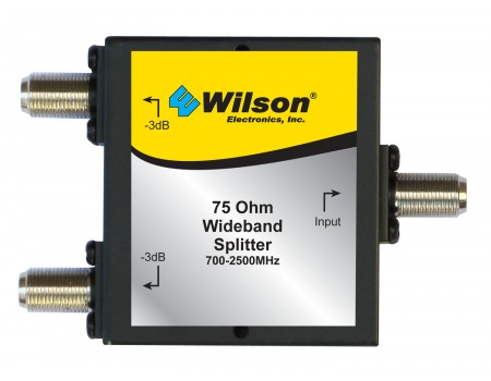 Wilson Two-Way 700-2500 MHz 75 Ohm Splitter (859993)