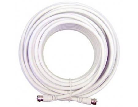 20' White RG6 Low Loss Coax Cable (950620)
