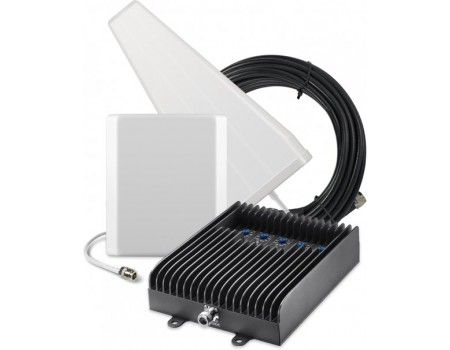 SureCall Fusion5s 72dB Signal Booster Kit - Voice, 3G & 4G LTE - Yagi and Panel Kit