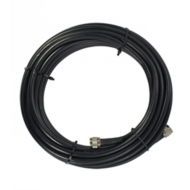 SureCall 100 SC-400 Ultra Low-Loss Coax Cable with N-Male Connectors Black