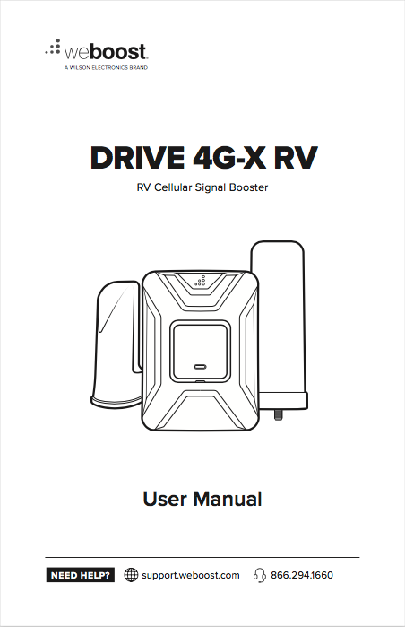 weBoost Drive 4G-X RV Manual
