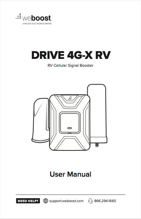 weBoost Drive 4G-X RV Manual